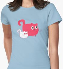 Pink Cat Womens Fitted T-Shirt