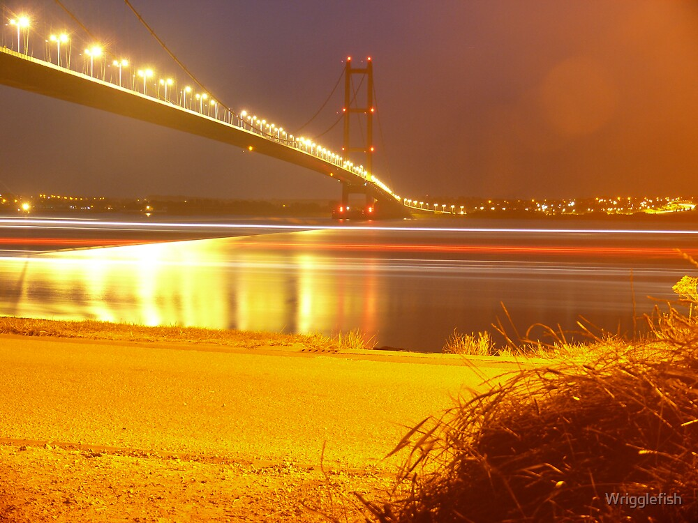 Humber Bridge Stripes by Wrigglefish