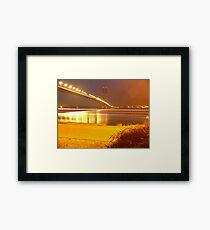 Humber Bridge Stripes Framed Print