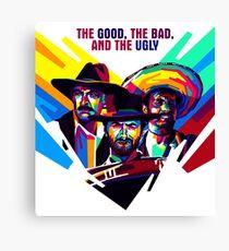 il buono, il brutto, il cattivo Canvas Print
