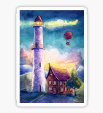 A lighthouse for air balloons Sticker