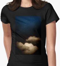 Clouds in a scratched darkness Women's Fitted T-Shirt