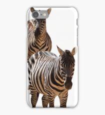 couple of zebra iPhone Case/Skin