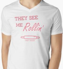 They See Me Rollin' Men's V-Neck T-Shirt