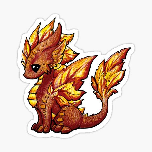 Autumn Dragon Sticker