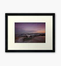 Bar Beach at Dusk 3 Framed Print