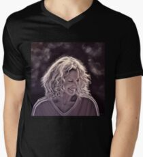 Heike Henkel painting Mens V-Neck T-Shirt