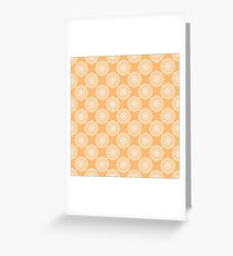Kitchen cutlery circles Greeting Card