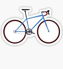Road Bike Blue Sticker