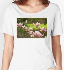 Blooming Magnolia Tree Close-up Women's Relaxed Fit T-Shirt