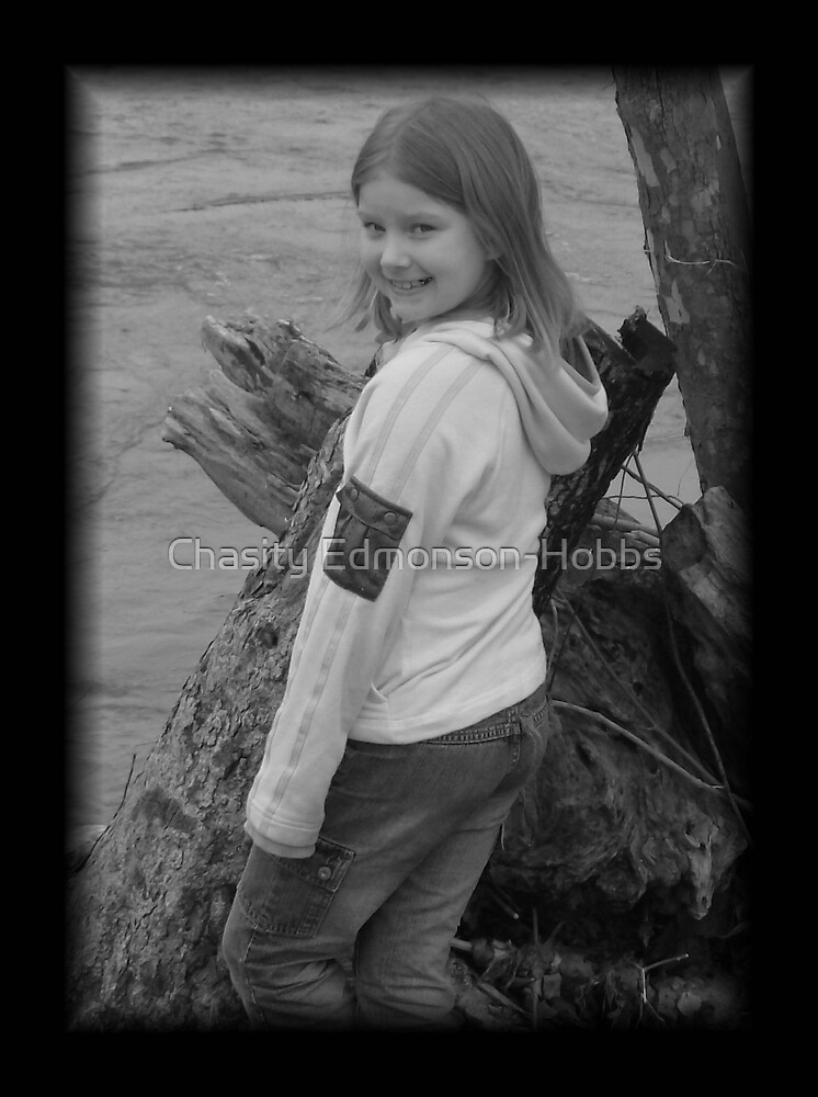 Haley in black and white by Chasity Edmonson-Hobbs