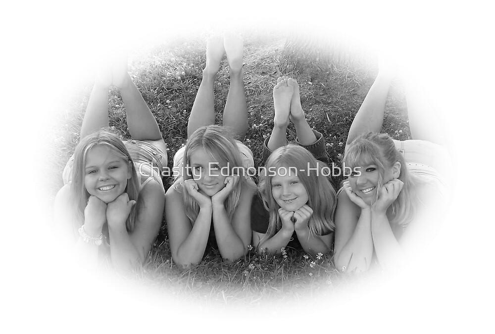 My girls in black & white by Chasity Edmonson-Hobbs