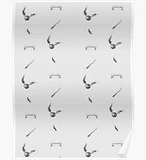 Harry Potter - Broom Snitch Glasses Lightning Scar Poster