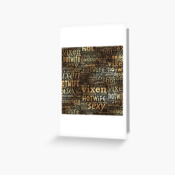 Hotwife Vixen in Gold Greeting Card