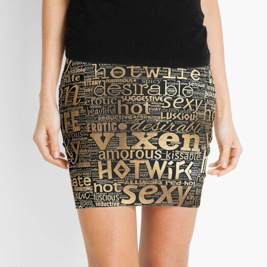 Hotwife Vixen en oro Minifalda