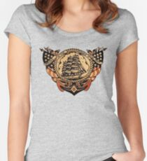 Rocked in the cradle of the deep design Women's Fitted Scoop T-Shirt