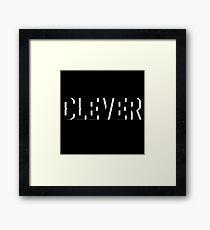 Clever Framed Print