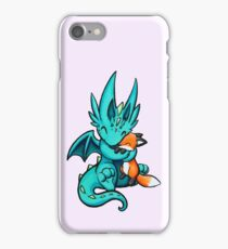 Dragon with Fox Friend iPhone Case/Skin