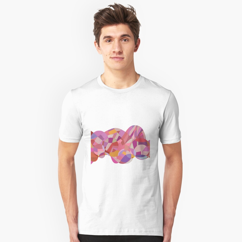 Pinkish Lines Collage Unisex T-Shirt Front