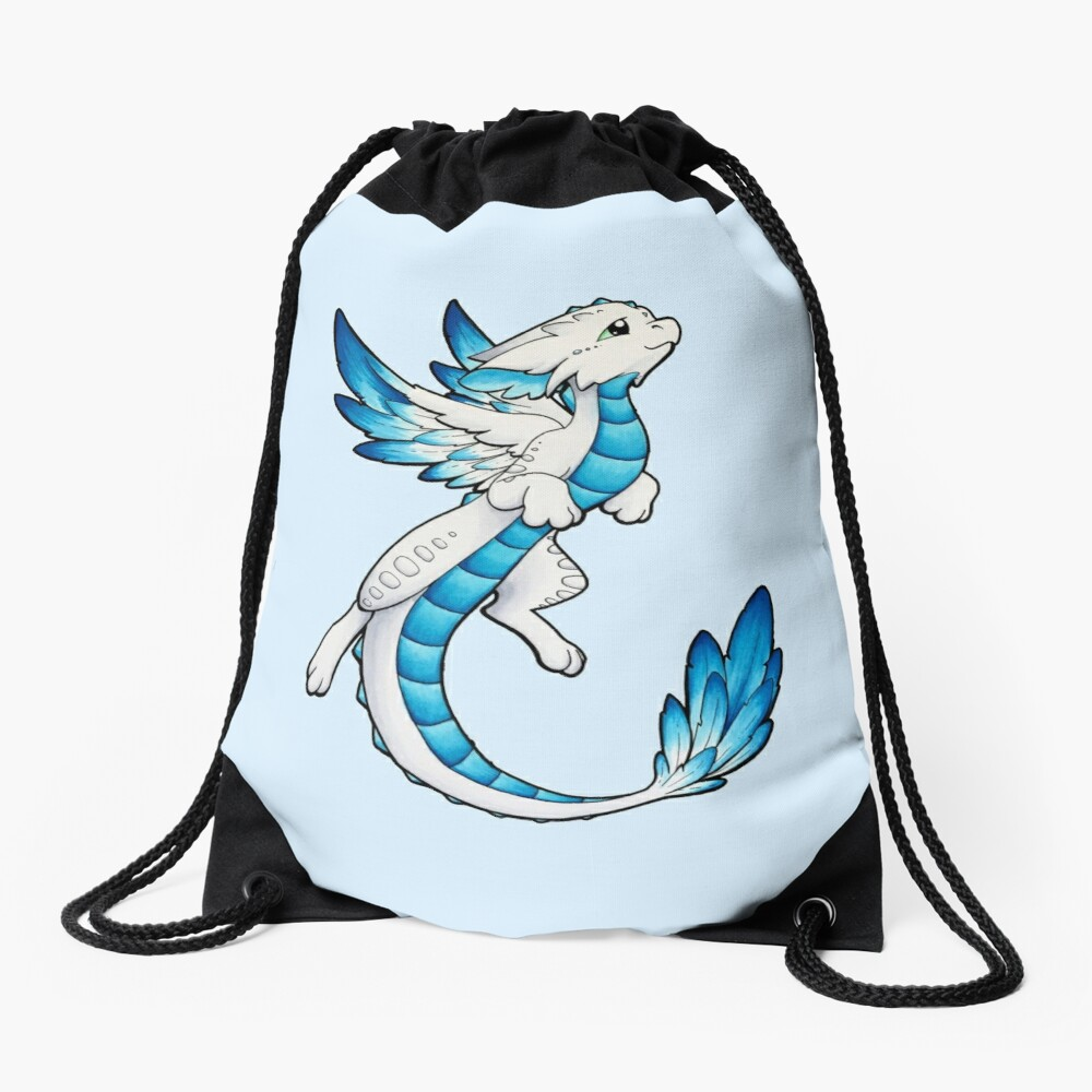 Angel Dragon Drawstring Bag