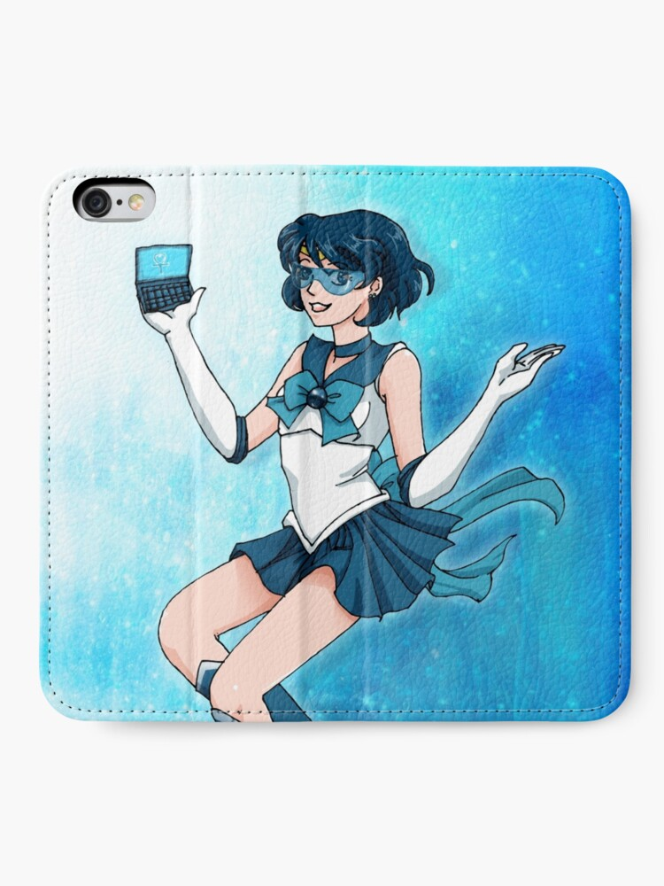 Alternate view of Sailor Senshi of Knowledge & Ice iPhone Wallet