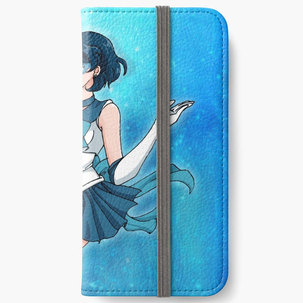 Sailor Senshi of Knowledge & Ice iPhone Wallet