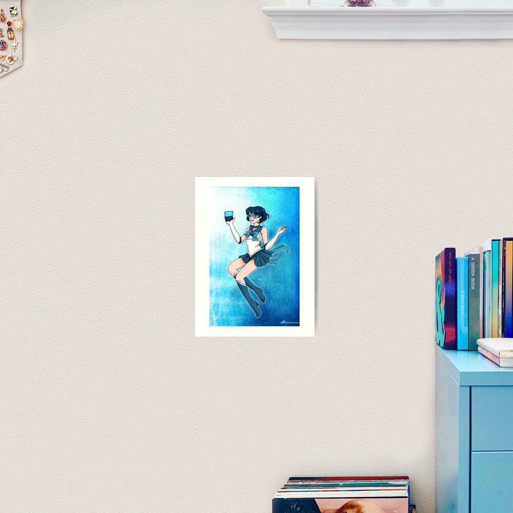 Sailor Senshi of Knowledge & Ice Art Print