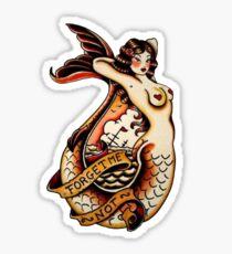 Forget me not tatoo art design Sticker