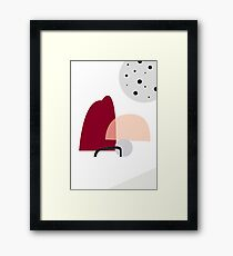 Playful organic modern Framed Print