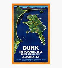 Australia Dunk Restored Vintage Travel Poster Photographic Print
