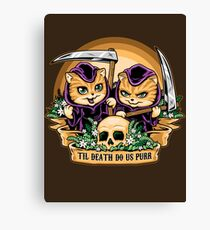 Til Death Do Us Purr Canvas Print