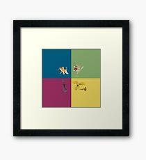 Animal Tiles  Framed Print
