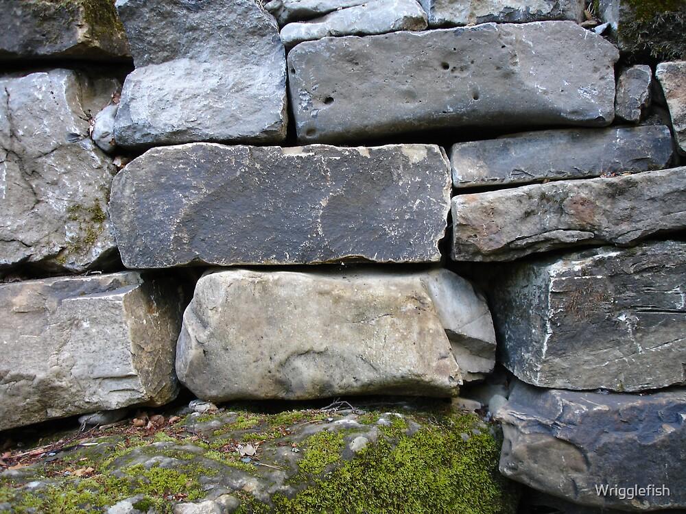 dry stone wall by Wrigglefish
