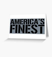 America's Finest, Marines, Army, Navy, Air Force, Coast Guard Greeting Card