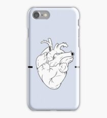 Heart and Scissors outline aesthetic iPhone Case/Skin