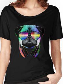 Music Love Pug Women's Relaxed Fit T-Shirt