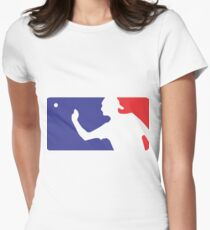 Major League Beer Pong  Womens Fitted T-Shirt
