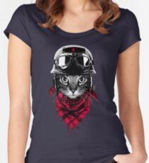 Adventurer Cat Women's Fitted Scoop T-Shirt