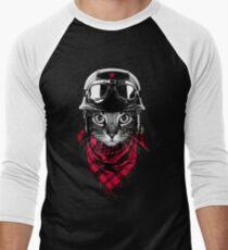Abenteurer Katze Baseballshirt für Männer