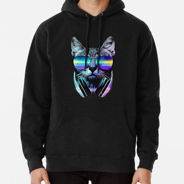 Music Lover Cat Pullover Hoodie