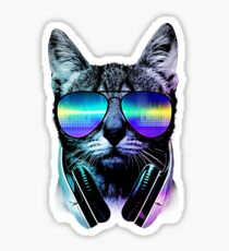 Music Lover Cat Sticker