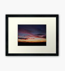 Edmonton Sunset Framed Print