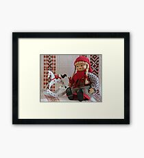 puppet with rocking horse Framed Print