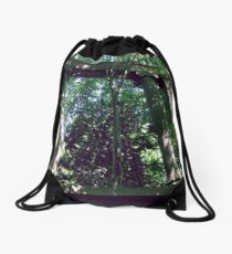 Lost Places - Forest Ruines Drawstring Bag