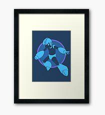 Retro Blue Hero Framed Print