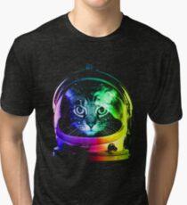Astronaut Cat Tri-blend T-Shirt