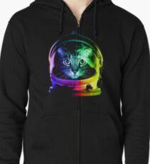 Astronaut Cat Zipped Hoodie