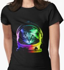 Astronaut Cat Women's Fitted T-Shirt