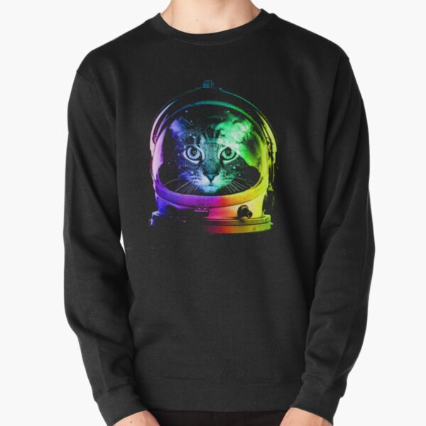 Astronaut Cat Pullover Sweatshirt