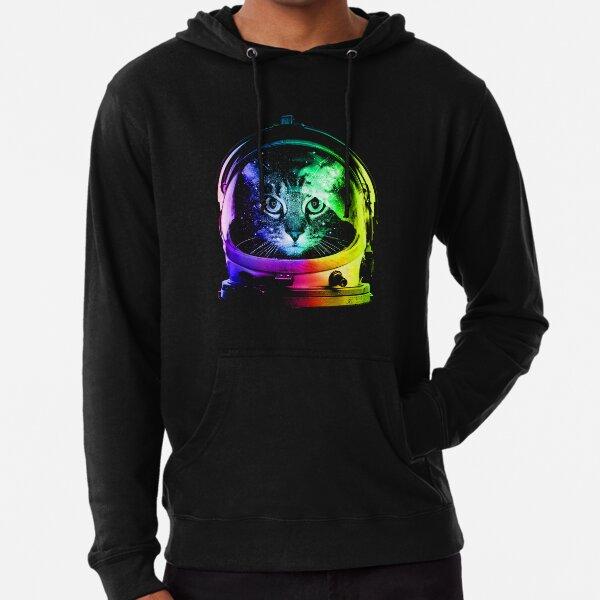 Gato astronauta Sudadera ligera con capucha